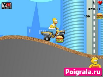 Картинка к игре Гомер гоняет на квадроцикле