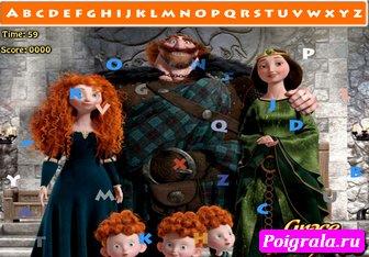 Картинка к игре Мерида, найди буквы