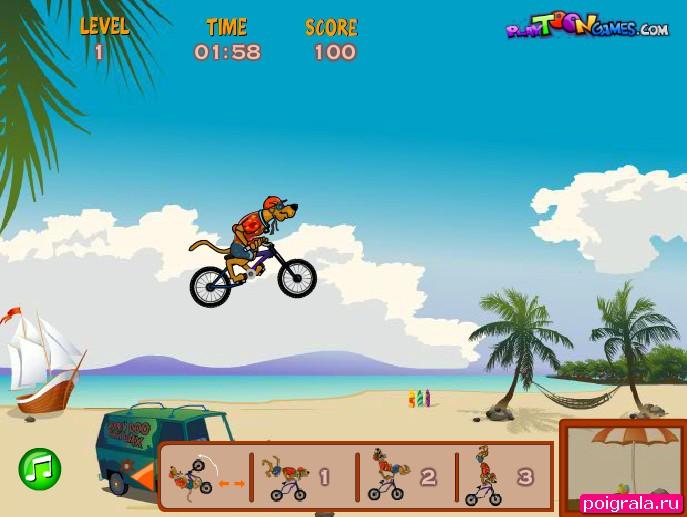 Картинка к игре Скуби Ду на велосипеде