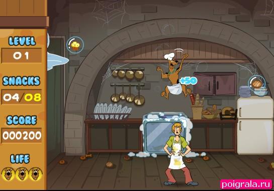 Картинка к игре Шегги и Скуби ловят еду