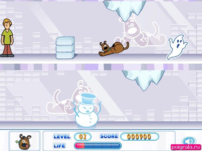 Картинка к игре Скуби в ледяном замке