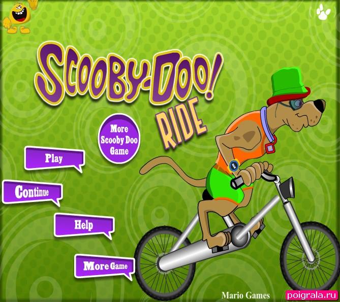 Игра Скуби ду гонки на велосипеде