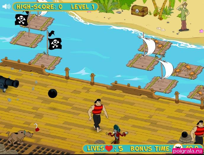 Игра Скуби на лодке