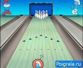Картинка к игре Боулинг со смурфиками