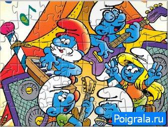 Картинка к игре Смурфики пазлы