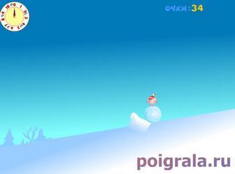Картинка к игре Смешарики, снежная горка