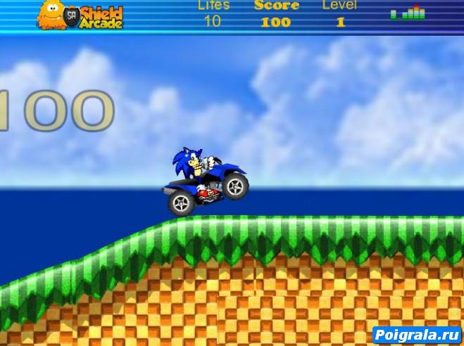 Картинка к игре Соник, гонки на квадроцикле