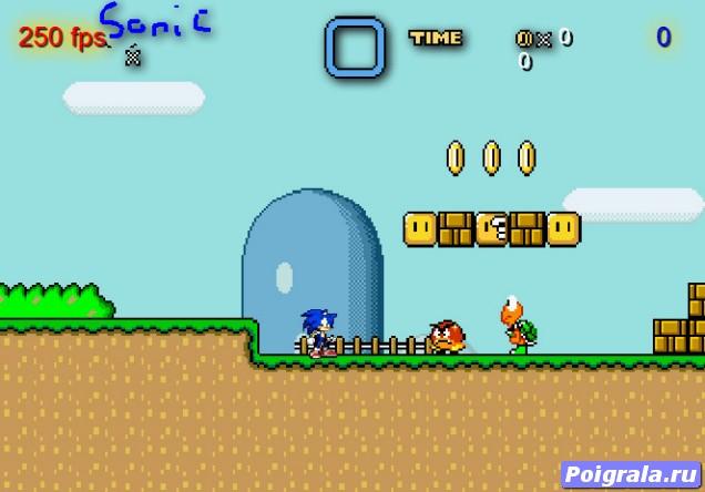 Картинка к игре Соник в мире Марио