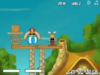 Картинка к игре Разбуди Астерикса и Обеликса