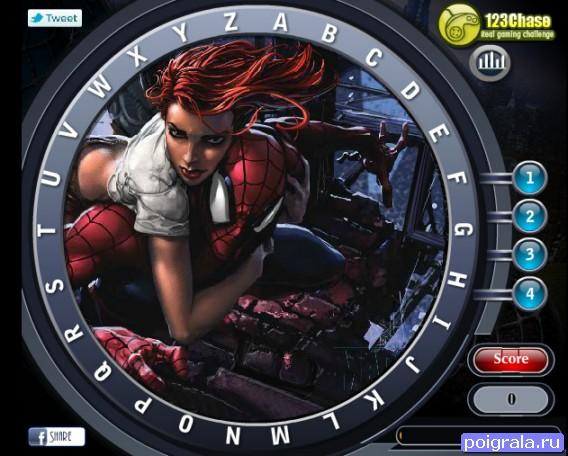 Картинка к игре Человек - паук, скрытый алфавит