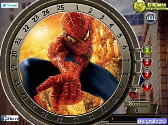Картинка к игре Найди цифры с человеком пауком