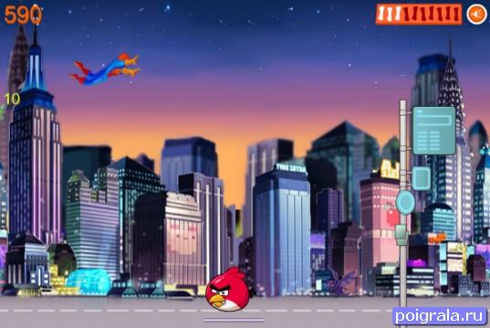 Картинка к игре Человек-паук спасает энгри бердс