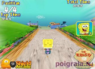 Картинка к игре Губка боб на велосипеде в 3D
