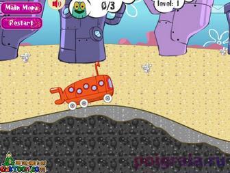 Картинка к игре Губка Боб водитель автобуса