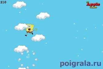 Картинка к игре Губка Боб летает в облаках