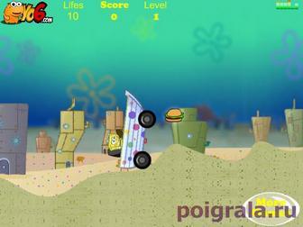 Картинка к игре Губка Боб гонки на лодках