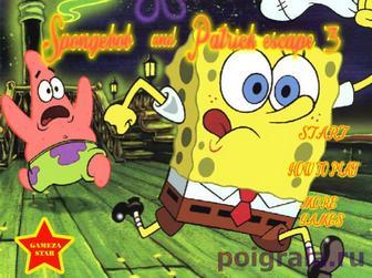 Игра Игра на двоих Губка Боб и Патрик совершают побег