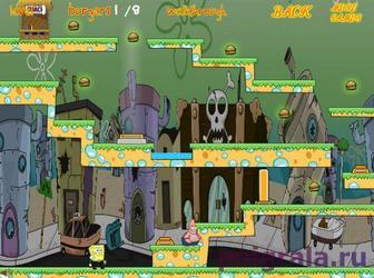 Картинка к игре Игра на двоих Губка Боб и Патрик совершают побег