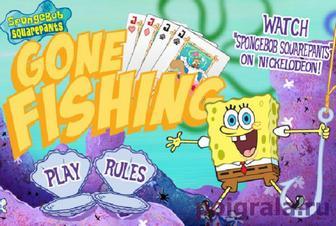 Игра Спанч Боб играет в карты