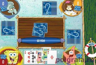 Картинка к игре Спанч Боб играет в карты