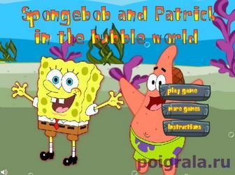 Игра Губка Боб и Патрик: мыльные пузыри