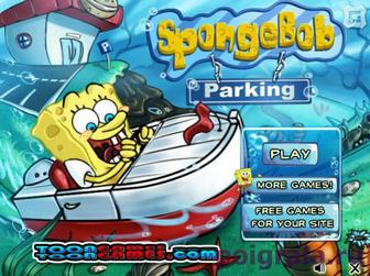 Игра Спанч Боб паркуется на лодке