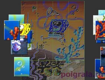 Пазл со Спанч Бобом картинка 1
