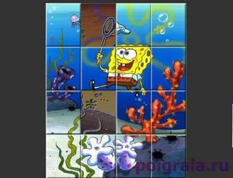 Картинка к игре Пазл со Спанч Бобом