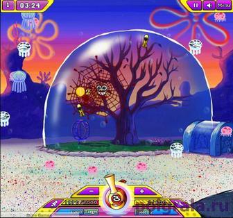 Картинка к игре Губка Боб ловит медуз