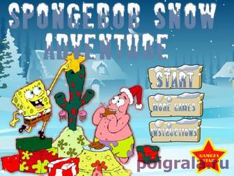 Губка Боб и Патрик, снежное приключение картинка 1