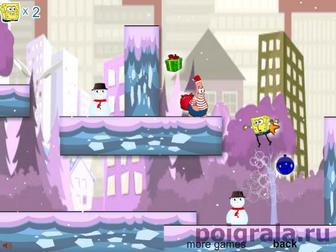 Картинка к игре Губка Боб и Патрик, снежное приключение