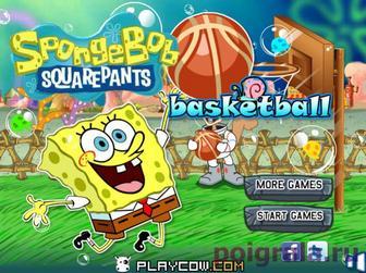 Губка Боб играет в баскетбол картинка 1