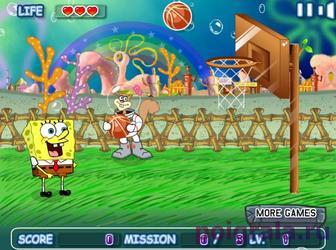 Картинка к игре Губка Боб играет в баскетбол