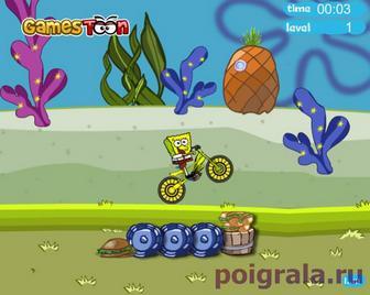 Картинка к игре Спанч Боб триал на велосипеде