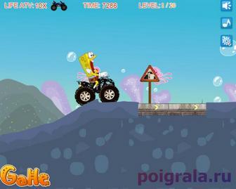 Картинка к игре Губка Боб на квадроцикле