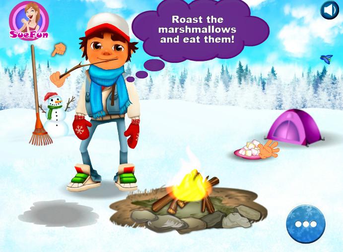Картинка к игре Сабвей серф, зимнее приключение