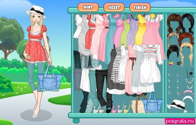 Картинка к игре Беременная Барби