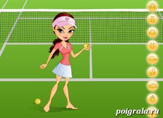Картинка к игре Оденьте тенисистку