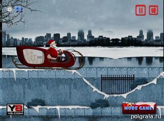 Картинка к игре Дед Мороз везет подарки
