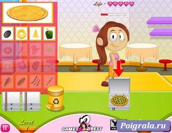 Картинка к игре Готовим пиццу на время