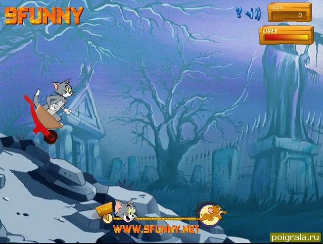 Картинка к игре Том и Джерри гонки на тележке