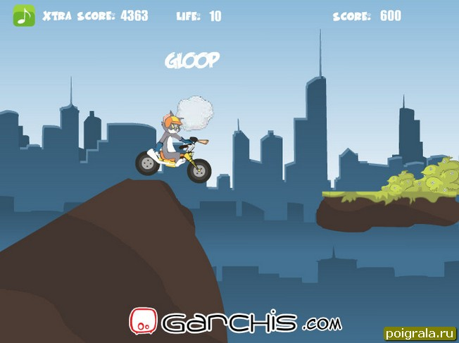 Картинка к игре Том и Джерри, гонки на мотоцикле