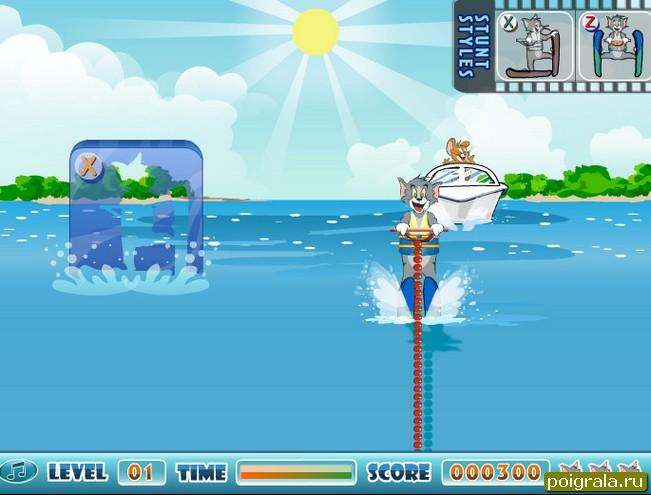Картинка к игре Том и джерри на водных лыжах