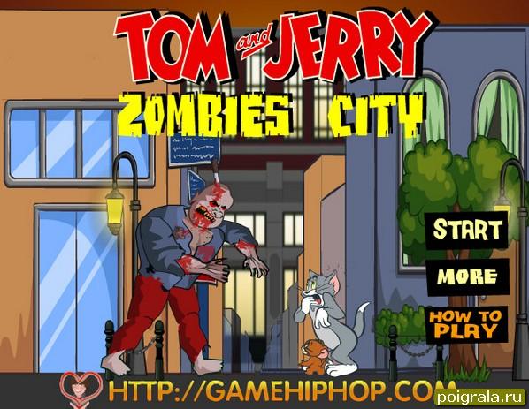 Игра Том и Джерри зомби