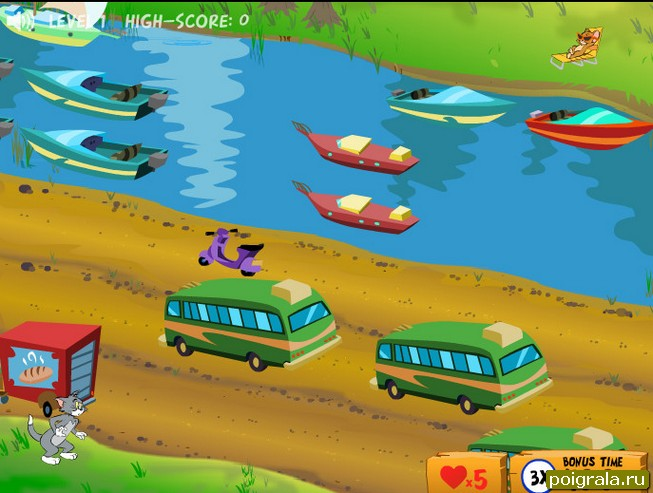 Картинка к игре Том перебегает дорогу