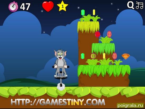 Картинка к игре Том прыгает на джампере