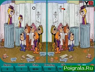 Картинка к игре Кошки, найди 6 отличий