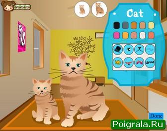 Кошка и котенок картинка 1