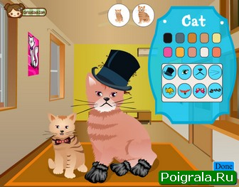 Картинка к игре Кошка и котенок