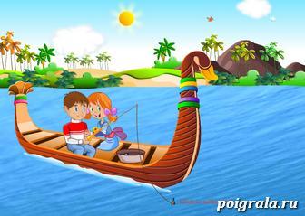 Картинка к игре Поцелуй на лодке